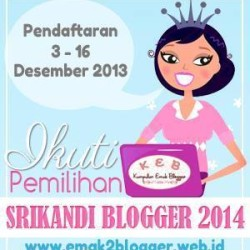 Road to Srikandi Blogger 2014