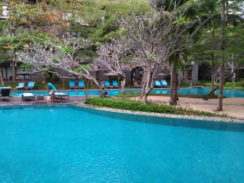 Foto dengan ASUS Zenfone 3 - Swimming pool Courtyard by J.W Marriot, Nusa Dua Bali