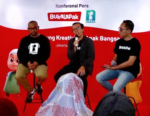 Aditya Triantoro, Chief Executive Officer The Little Giantz, dan Fajrin Rasyid, Co-Founder dan Presiden Bukalapak.